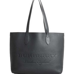 Burberry Womens Remington Large Leather Tote Black